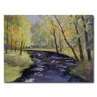 Ryan Radke 'View From the Covered Bridge' Canvas Art