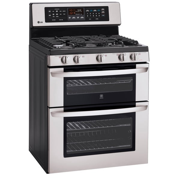 Lg Ldg3017st 6 1 Cu Ft Capacity Double Oven Infrared Grill And Easyclean Gas Range 15047257