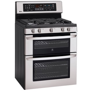 LG LDG3017ST 6.1 Cu. Ft. Capacity Double-Oven Infrared Grill and EasyClean Gas Range