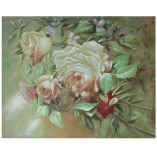 Hand Painted Portrait of a Peach Peony (China)
