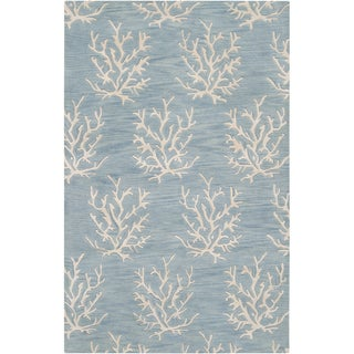 Somerset Bay Hand-tufted Blue Beach Inspired Wool Rug (2' x 3')