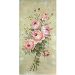 Hand Painted Rustic Roses Canvas (China)