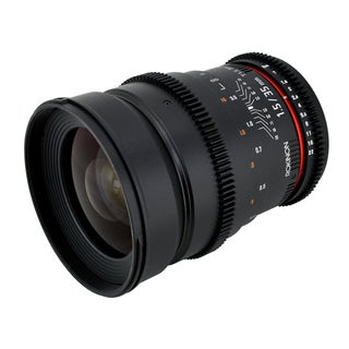 Rokinon CV35 35mm T1.5 Cine VDSLR Wide Angle Lens with De-clicked Aperture