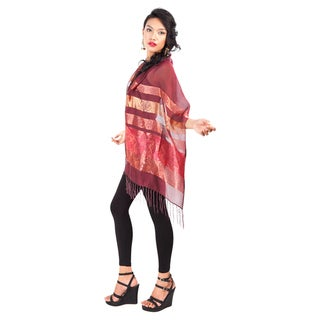 Elegant Maroon Silky Assorted Scarf (Indonesia)
