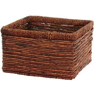 Hand Woven High Basket Tray (China)