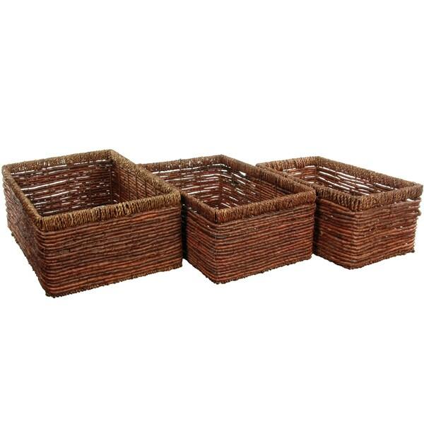 Hand Woven Space Saver Basket Set (China)