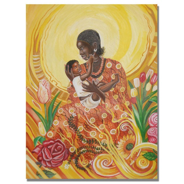 Djibrirou Kane 'Expressions of Affection' Canvas Art