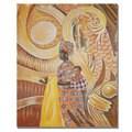 Djibrirou Kane 'Caring and Dedicated Mom' Canvas Art