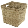 Hand Woven Rush Grass Basket Bin Set (China)