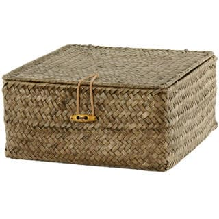 Hand Woven Covered Basket Set (China)