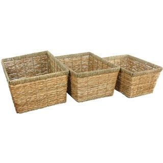 Hand Woven Natural Storage Basket Set (China)