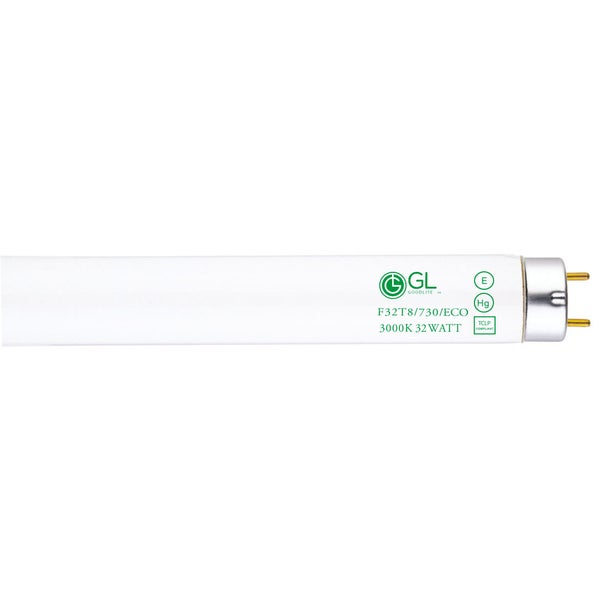 Goodlite F32T8/730/ECO 32W 48-inch T8 Fluorescent Tube Lights 3000k Warm White (30 Pack)