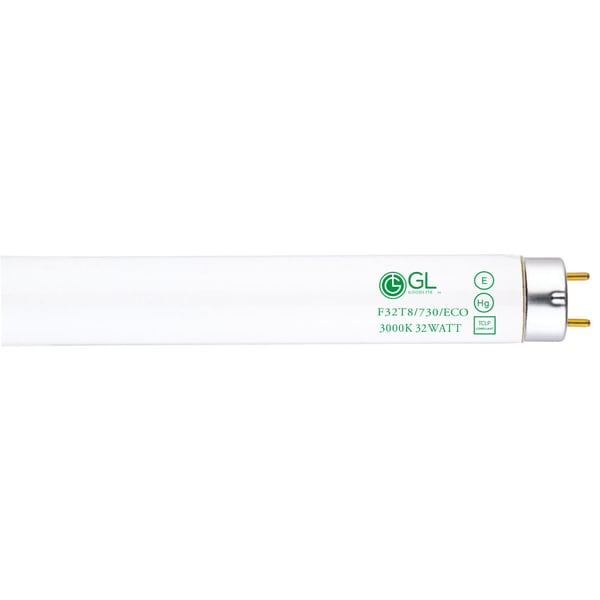 Goodlite F32T8/730/ECO 32W 48-inch T8 Fluorescent Tube Lights 3000k Warm White (30 Pack)