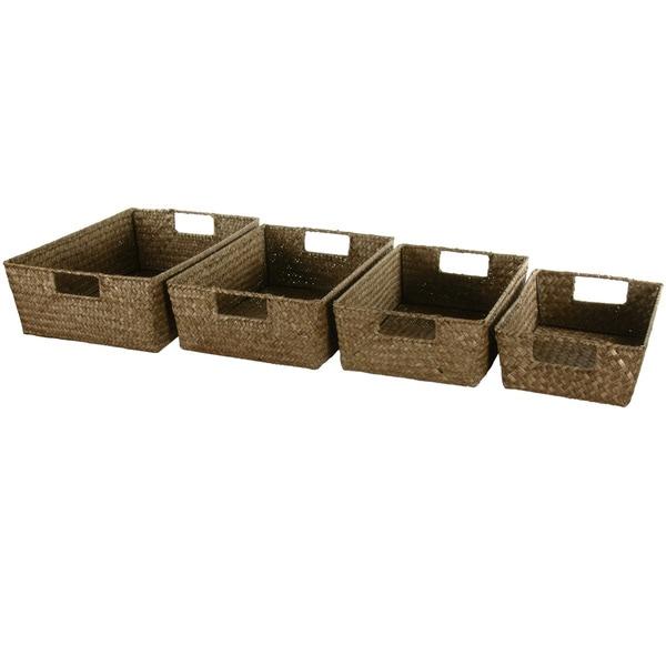 Hand Plaited Basket Tray Set (China)