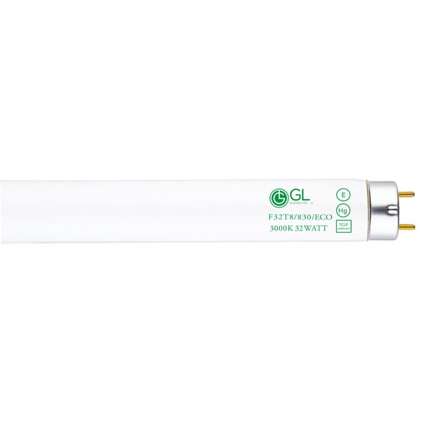 Goodlite F32T8/830/ECO 32W 48-inch T8 Fluorescent Tube Lights Warm White 3000k (Pack of 30)
