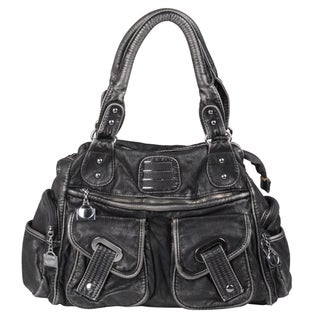 Journee Collection Women's Multi-pocket Doulbe Handle Satchel