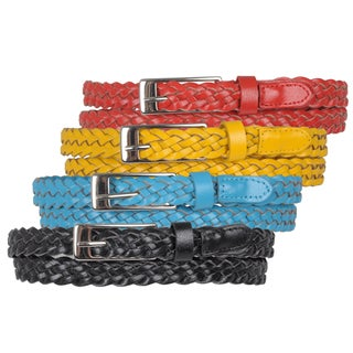 Journee Collection Women's Braided Skinny Belt