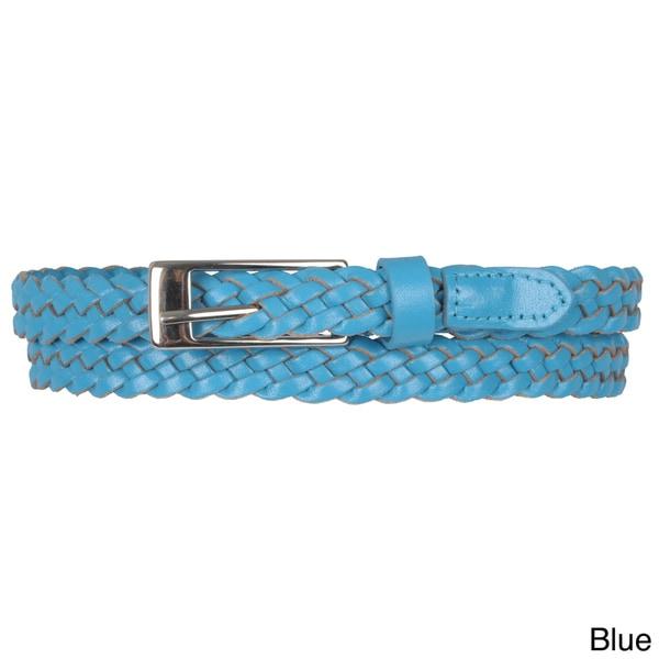 Journee Collection Women's Braided Skinny Belt