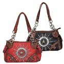 Journee Collection Women's Rhinestone Accent Western Theme Satchel