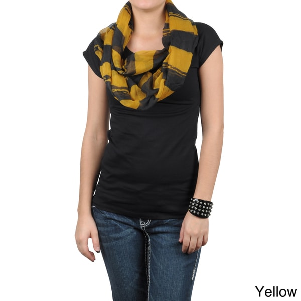 Journee Collection Women's Striped Print Figure 8 Scarf