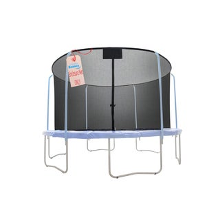 Upper Bounce 15-foot Safety Net Enclosure (for 6 Curved Pole with Top Ring Enclosure Trampoline Systems)