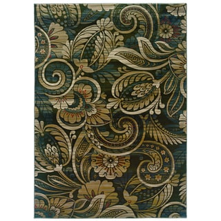 Millennium Floral Play Hints of Sage Area Rug (9' x 12'2)