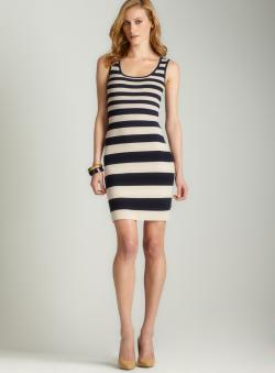 Carmen Marc Valvo Scoopneck ottoman dress