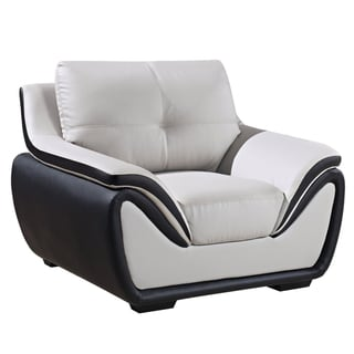 Grey/ Black Bonded Leather Chair