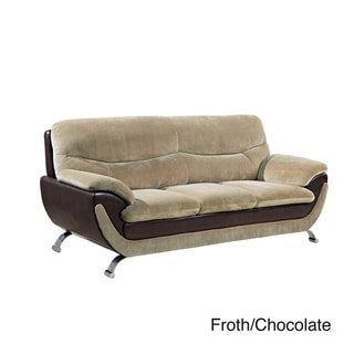Champion Fabric/ Bonded Leather Sofa