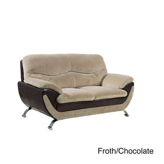 Champion Fabric/ Bonded Leather Loveseat