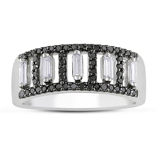 Miadora 14k Gold 1/2ct TDW Black and White Diamond Ring (G-H, I1-I2)