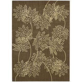Capri Chocolate Wool-blend Rug (9'6 x 13')