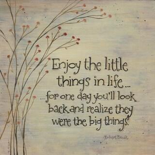 Karen Tribett 'Enjoy The Little Things' Paper Print (Unframed)