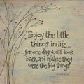 Karen Tribett 'Enjoy The Little Things' Paper Print (Unframed)