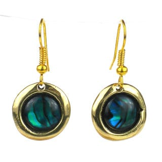 Deep Sea Paua Shell Earrings (South Africa)