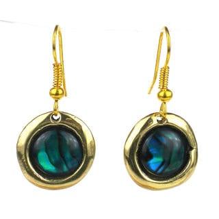 Deep Sea Paua Shell Earrings (South Africa)