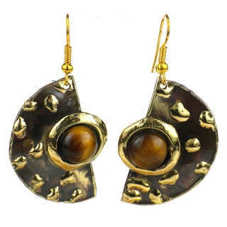 Make Your Mark Tiger's Eye Earrings (South Africa)