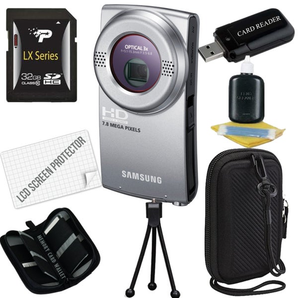 Samsung HMX-U20 Flash Memory Ultra-Compact Camcorder with 32GB Bundle