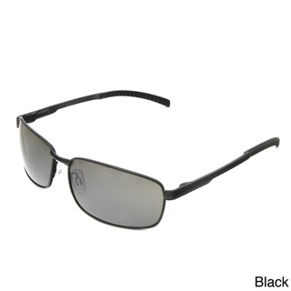 Hot Optix Men's Square Metal Wrap Sunglasses