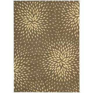 Capri Mocha Wool-blend Rug (9'6 x 13')