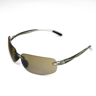 Hot Optix Men's High-contrast Rimless Wrap Sunglass