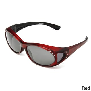 Hot Optix Women's Polarized Jeweled Over-the-Glass Sunglasses