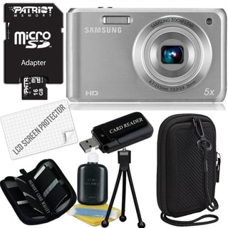 Samsung DV101F 16.1MP Digital Camera with 16GB Bundle