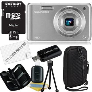 Samsung DV101F 16.1MP Digital Camera with 16GB Bundle