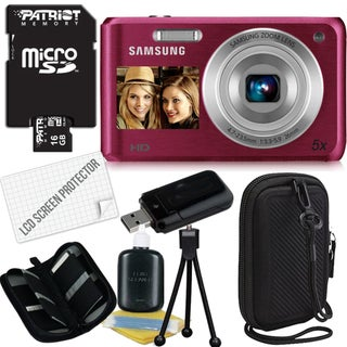 Samsung DV100F 16.1MP Digital Camera with 16GB Bundle