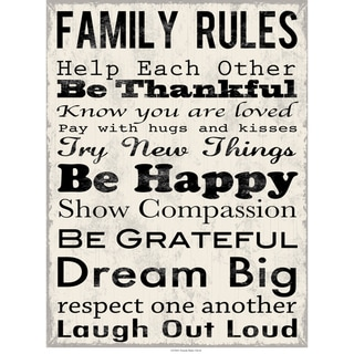 Family Rules Contemporary Art Print