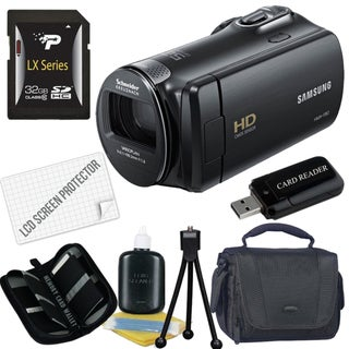 Samsung HMX-F80 HD Digital Camcorder with 32GB Bundle