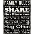 Family Rules I Paper Print (Unframed)