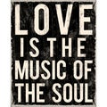 Love Is The Music of the Soul Paper Print (Unframed)
