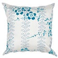 Contemporary Poly Dupione Blue Square Throw Pillows (Set of 2)